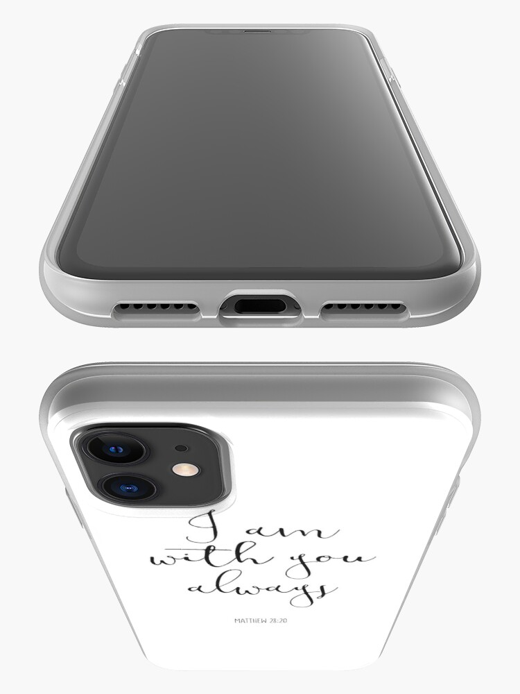 Alternate view of Bible Verse - I Am With You Always iPhone Case & Cover