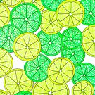 Lemon and Lime Pattern by julieerindesign