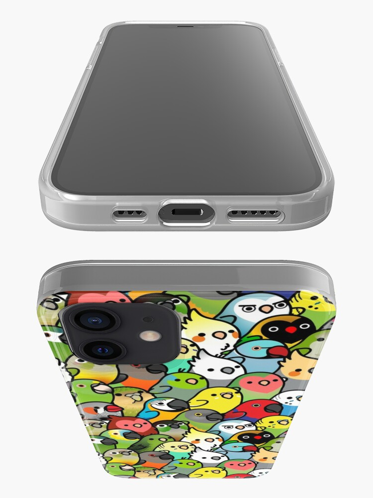 Alternate view of Everybirdy Pattern iPhone Case & Cover