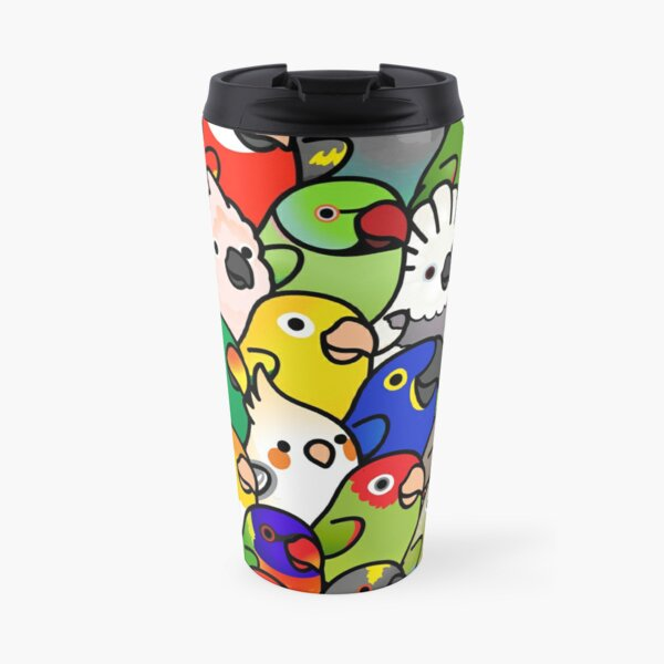 Everybirdy Pattern Travel Mug