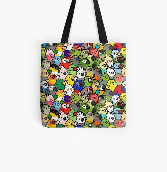 Everybirdy Pattern All Over Print Tote Bag