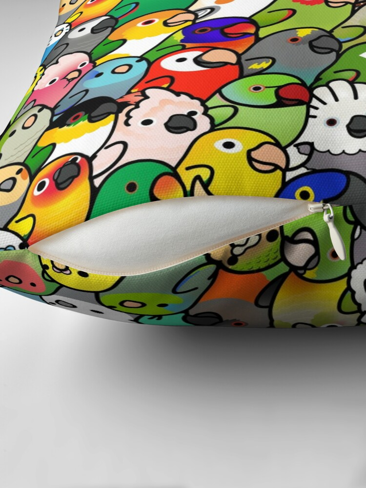 Alternate view of Everybirdy Pattern Throw Pillow