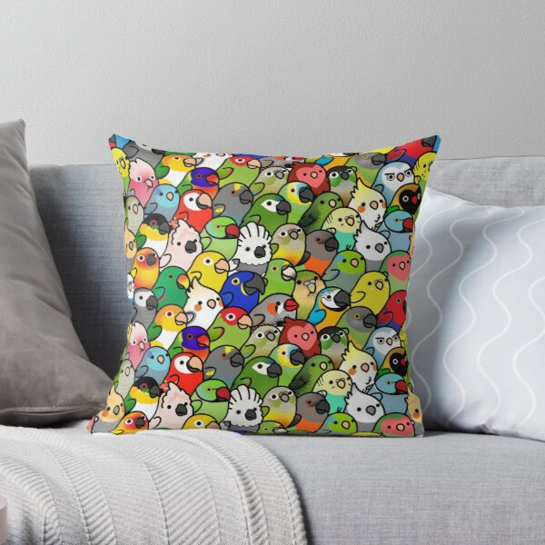 Everybirdy Pattern Throw Pillow