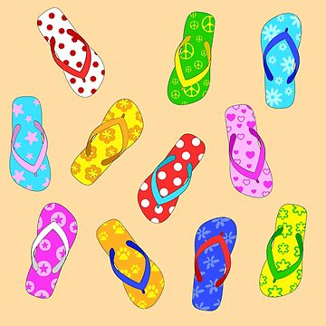 Flip Flops Pattern by julieerindesign