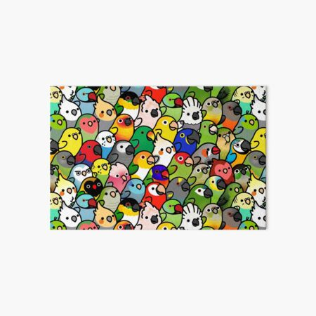 Everybirdy Pattern Art Board Print