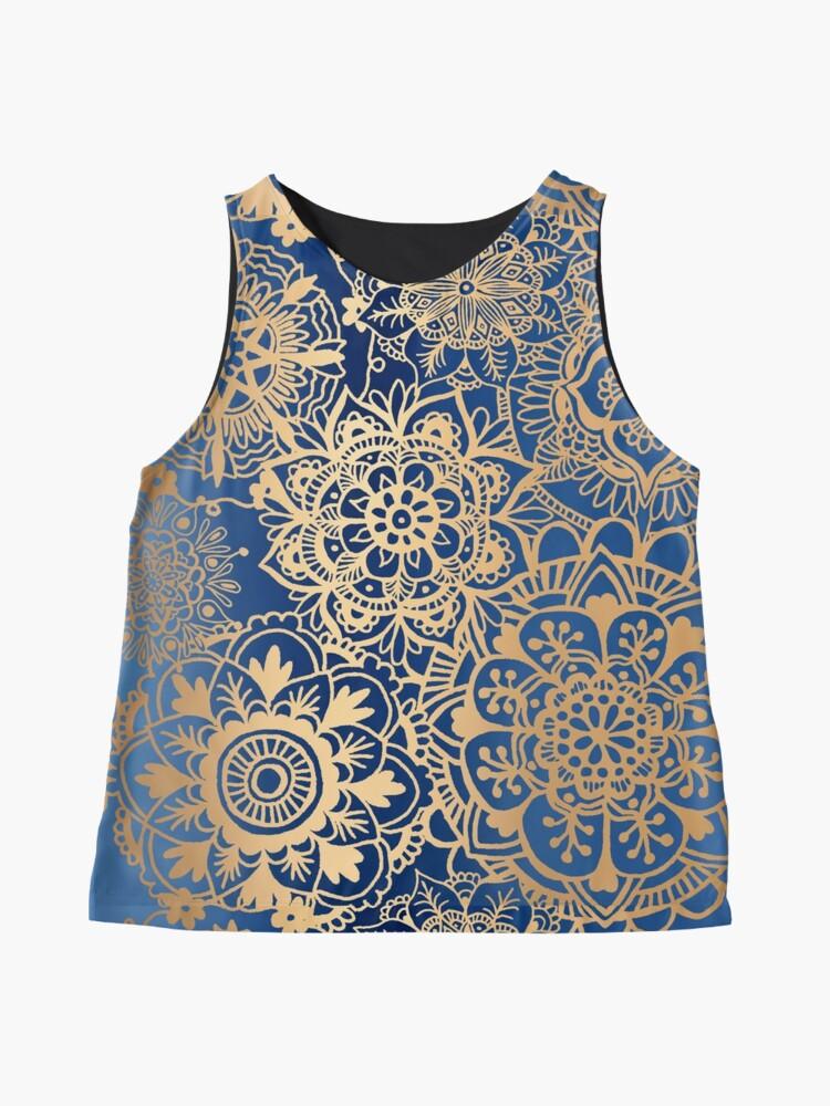 Alternate view of Blue and Gold Mandala Pattern Sleeveless Top