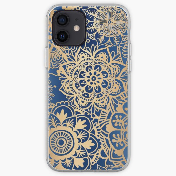 Blue and Gold Mandala Pattern iPhone Soft Case