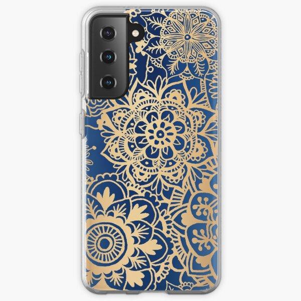 Blue and Gold Mandala Pattern Samsung Galaxy Soft Case