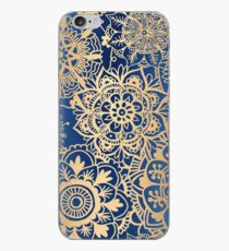 Blue and Gold Mandala Pattern iPhone Case