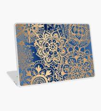 Blue and Gold Mandala Pattern Laptop Skin