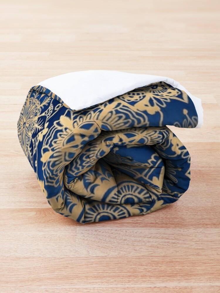 Alternate view of Blue and Gold Mandala Pattern Comforter