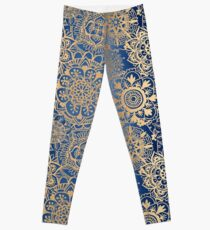 Motif Mandala bleu et or Leggings