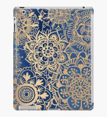 Blue and Gold Mandala Pattern iPad Case/Skin
