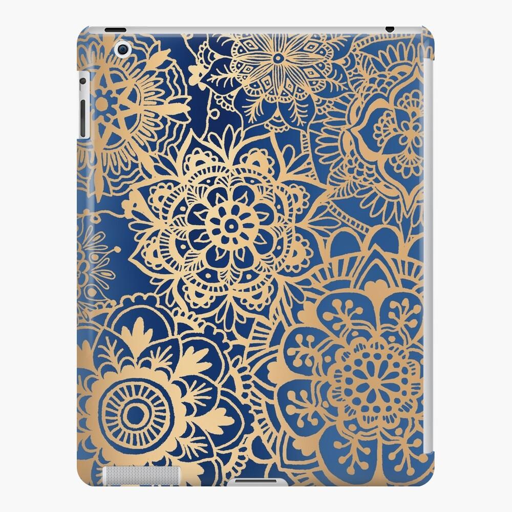 Blue and Gold Mandala Pattern iPad Case & Skin