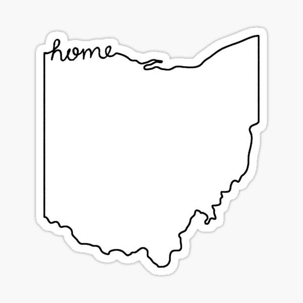 Ohio Home State Outline Sticker