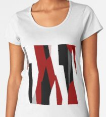 red black and white abstract Women's Premium T-Shirt