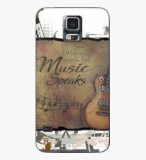 Wo Worte fehlen spricht Musik Hülle & Klebefolie für Samsung Galaxy