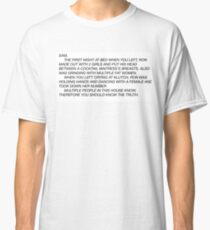 the letter Classic T-Shirt