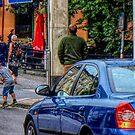 Detail From Photo Drottninggatan Street Scene  by Barry W  King