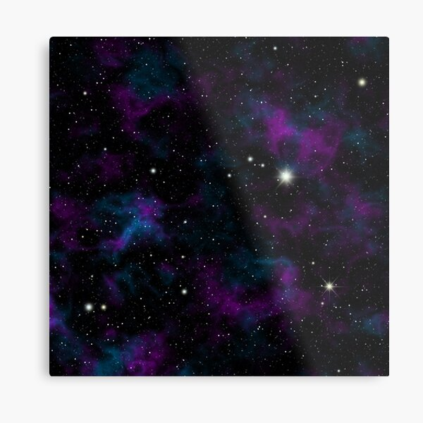 Blue and Purple Galaxy Metal Print