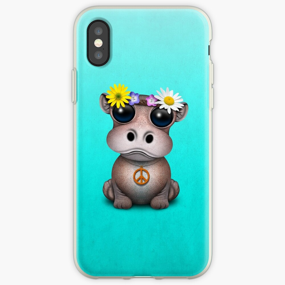 Niedliches Baby Hippo Hippie iPhone-Hülle & Cover