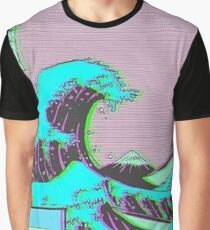 The Great Wave off Vaporwave Kanagawa Graphic T-Shirt