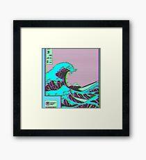 The Great Wave off Vaporwave Kanagawa Framed Print