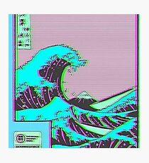 The Great Wave off Vaporwave Kanagawa Photographic Print