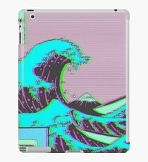 Die große Welle vor Vaporwave Kanagawa iPad-Hülle & Klebefolie