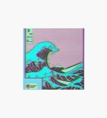 Lámina de exposición La gran ola de Vaporwave Kanagawa