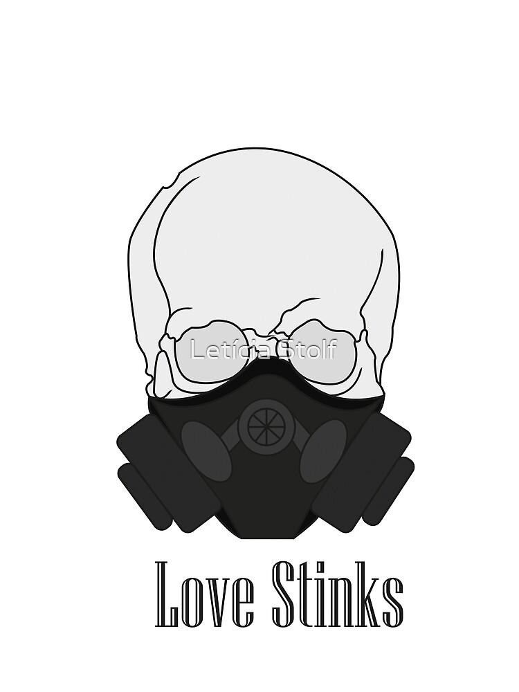 Love Stinks - Masked Skull by ldsart