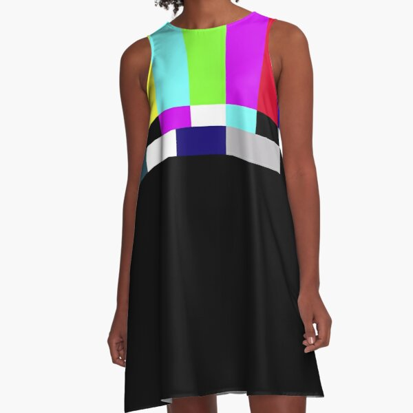Iconic TV Color Bars A-Line Dress