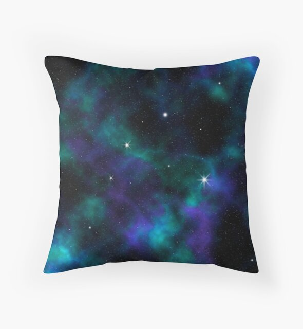 Blue and Green Galaxy by julieerindesign