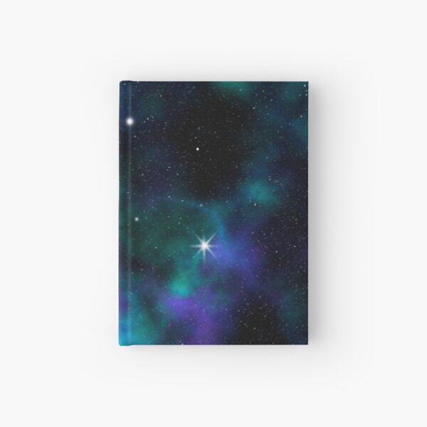 Blue and Green Galaxy Hardcover Journal