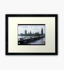 Westminster Bridge with trams, London, 1918-1919 Framed Print