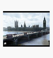 Westminster Bridge with trams, London, 1918-1919 Photographic Print