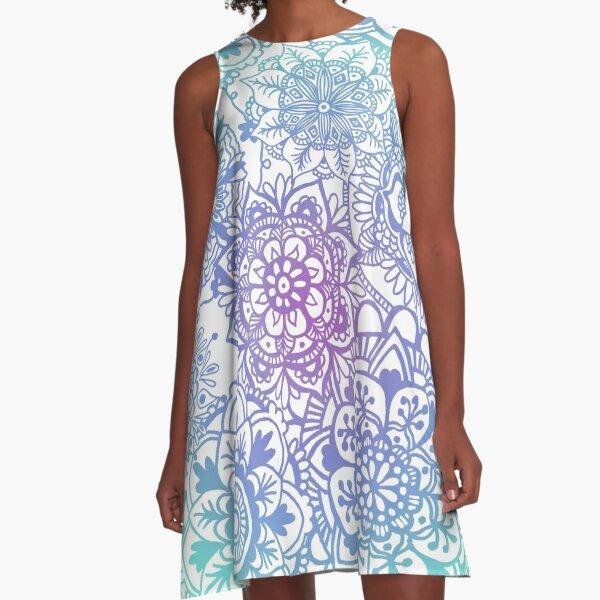 Pastel Mandala Pattern A-Line Dress