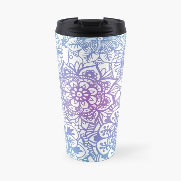 Pastel Mandala Pattern Travel Mug