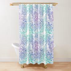 Pastel Mandala Pattern Shower Curtain