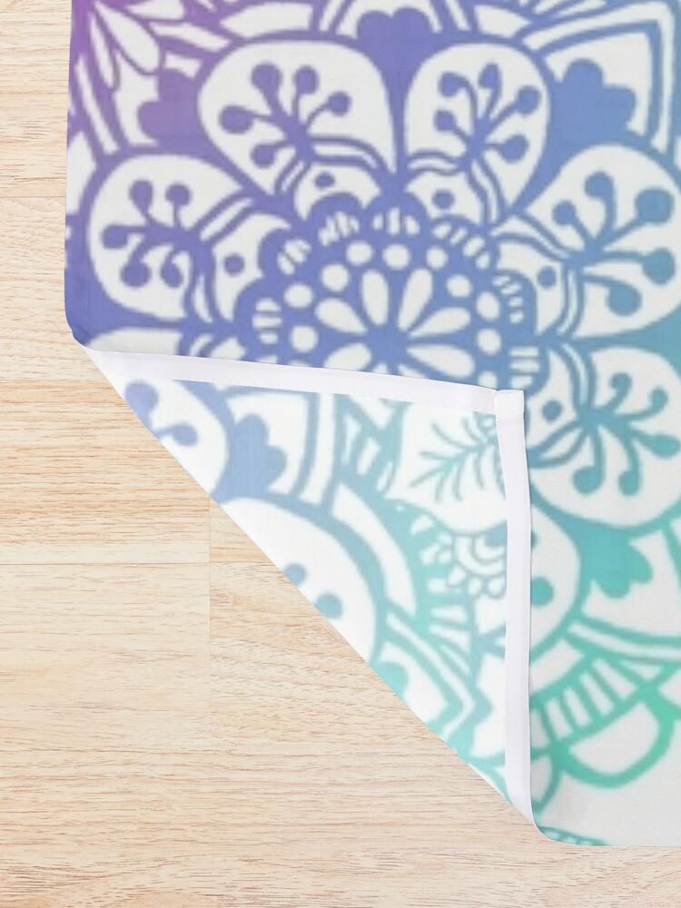 Alternate view of Pastel Mandala Pattern Shower Curtain