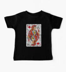 Camiseta para bebés Vintage Jack of Diamonds Playing Cards