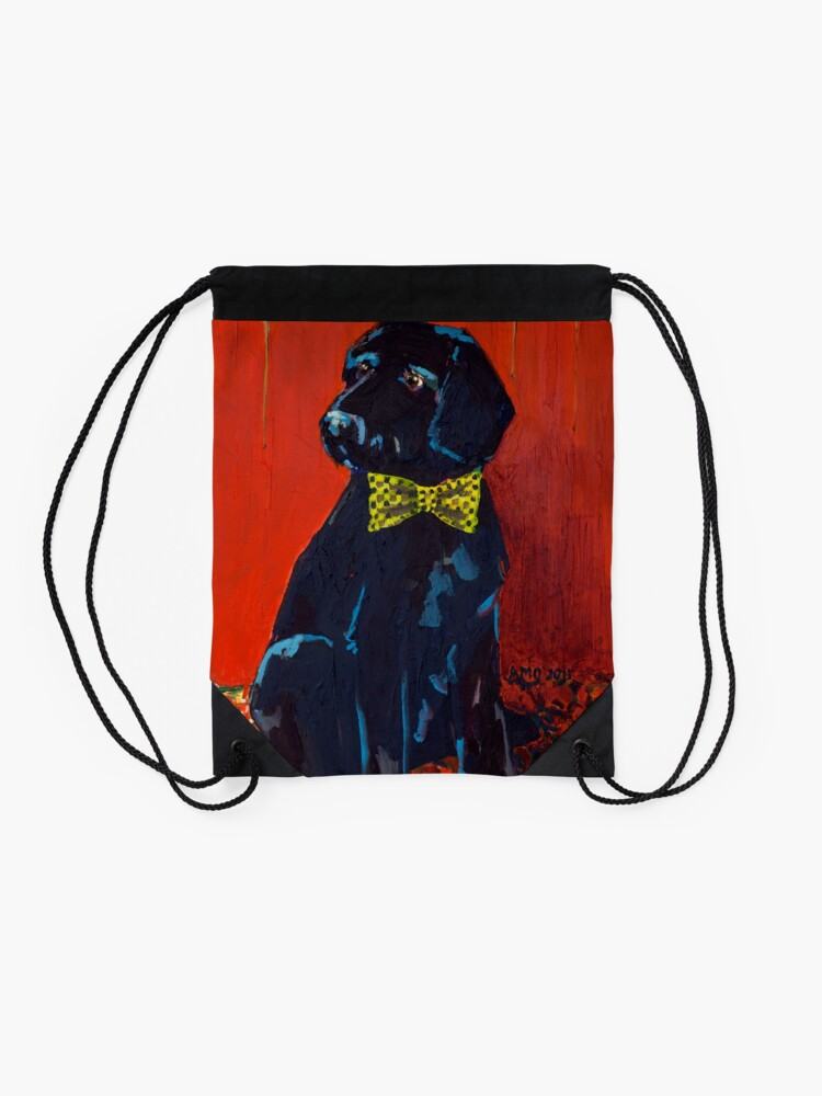 Alternate view of Party Dog Drawstring Bag