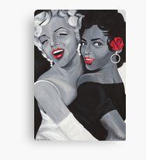 Marilyn Monroe and Dorothy Dandridge Leinwanddruck