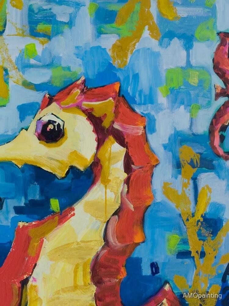 Seahorses by AMOpainting