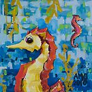 Seahorses by AMOpainting