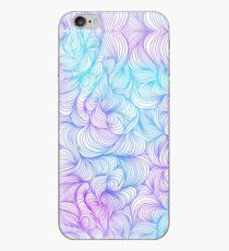 Blue and Purple Swirls iPhone Case