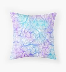 Blue and Purple Swirls Throw Pillow
