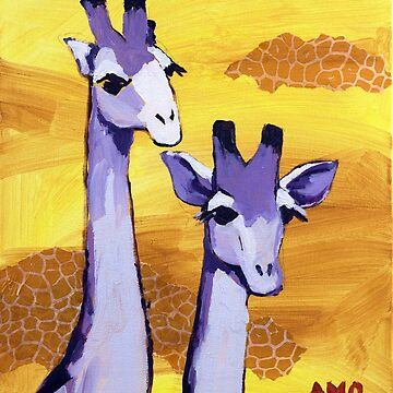 Purple Giraffes by AMOpainting