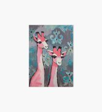 Pink Giraffes Art Board