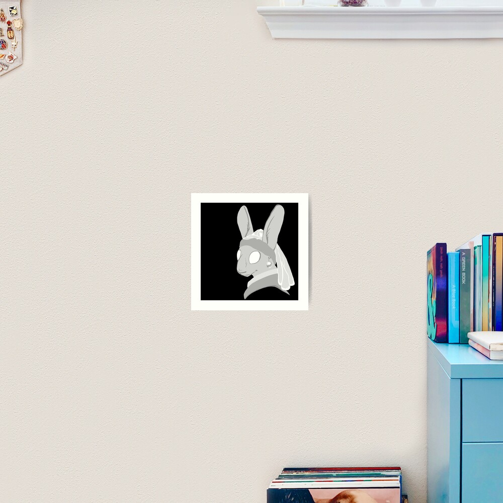 Bunny with a Pearl Earring Art Print